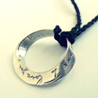 I love you more orbit necklace metalwork sterling by FoxInTheBox