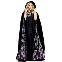 Underwraps Womens Deluxe Velvet Halloween Party Costume Cape