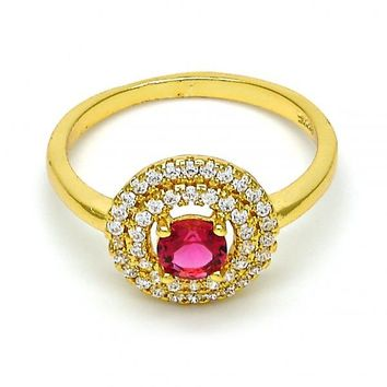 Gold Tone Mult-stone Ring, with Cubic Zirconia and Micro Pave, Golden Tone