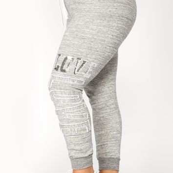 Love Sequence Lounge Joggers - Marled Charcoal