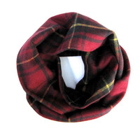 Red Plaid Scarf, Kid Flannel Scarf, Child Scarf, Unisex Scarf, Toddler Scarf, Baby Bib Scarf, Child Gift, Children's Clothing, Ready to Ship