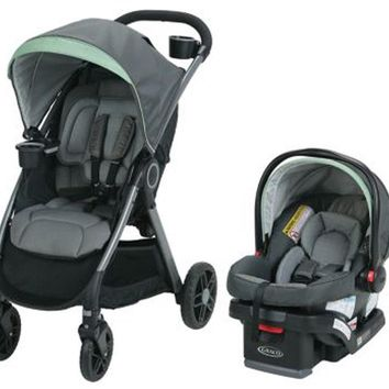Graco Baby FastAction Fold DLX Travel System Stroller w/ Infant Car Seat Landry