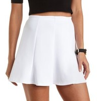Seamed Skater Skirt by Charlotte Russe