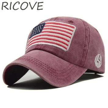 Trendy Winter Jacket USA National Flag Trucker Hat Snapback Baseball Cap Men Hip Hop Sport Cap For Women Fashion Outdoor Cotton Embroidery Hat Casual AT_92_12