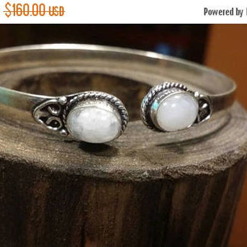 80%OFF SUMMER SALE Moonstone Bracelet Gemstone  .925 Sterling  Silver