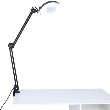Adjustable Swivel & Swing Arm Magnifier Desk Lamp