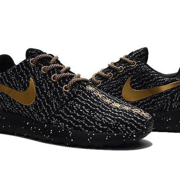 """""""Nike Roshe One x Yeezy 350 Boost"""" Men Sport Casual Flywire Ink Jet Sneakers Running S"""