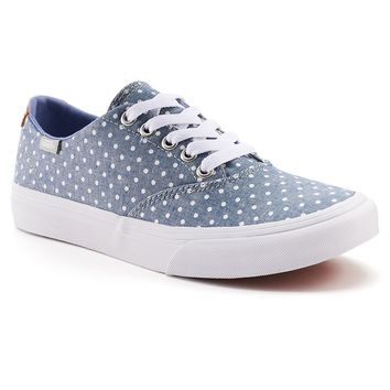 Vans Winston Decon Women's Polka-Dot Skate Shoes (Blue)