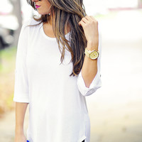White Night Blouse: Crisp White | Hope's