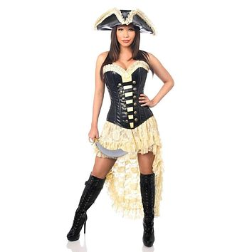 Daisy Top Drawer 4 PC Pirate Wench Corset Costume
