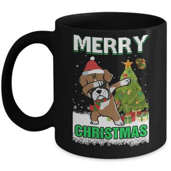 DCKIJ3 Cute Boxer Claus Merry Christmas Ugly Sweater Mug