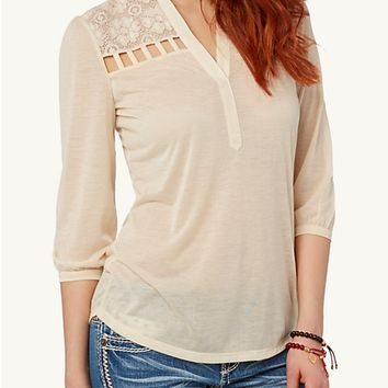 Lace Cage Pullover
