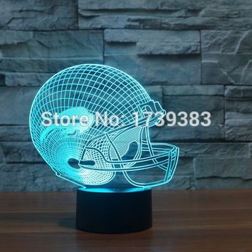 Buffalo Bills 3D Night Light NFL American Football Club Lamp USB LED Lighting Table Decor Bedside Nightlight by Touch control