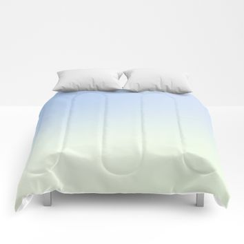 Colors Blue Green White Comforters by Alexandr-Az