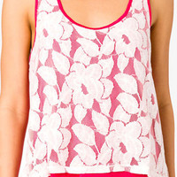 Floral Print Overlay Tank