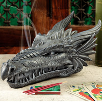 Design Toscano Stryker the Smoking Dragon Incense Box