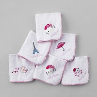 Sanrio 6 Pack Hello Kitty Washcloth Towels