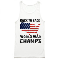 Back to Back World War Champs USA Tank Top