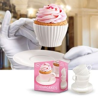 TeaCupcakes - Set of 4 Bake and Serve Cupcake Molds