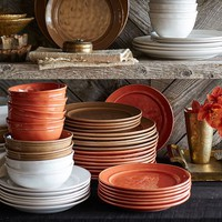 Cambria 16-Piece Dinnerware Set - Stone