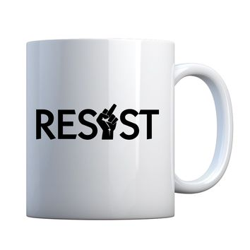 Mug Resist Finger Ceramic Gift Mug