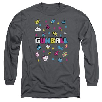 Amazing World Of Gumball - Fun Drops Long Sleeve Adult 18/1 Officially Licensed Shirt