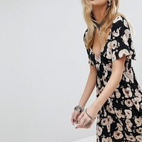 Sacred Hawk Mini Dress In Poppy Print at asos.com