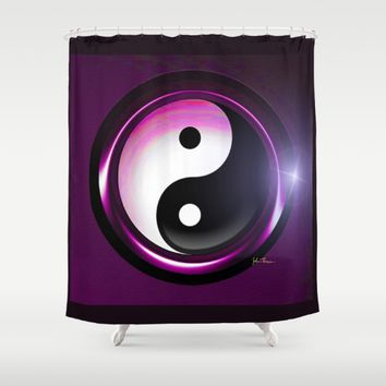 yin and yang Shower Curtain by JT Digital Art