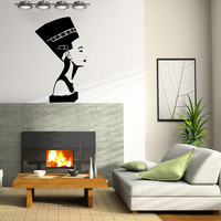 Egyptian Symbol Nefertiti Housewares Wall Vinyl Decal Art Design Murals Interior Modern Decor Sticker SV3799