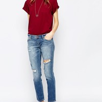 Ditto's | Ditto's Selena Midrise Ankle Skinny Lightly Destructed Antique at ASOS