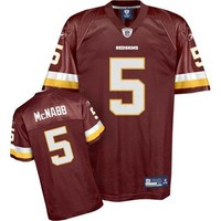 Reebok NFL Equipment Washington Redskins #5 Donovan McNabb Youth Burgundy Replica Football Jersey