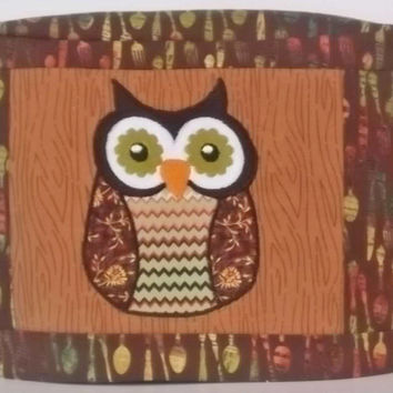 Two Slice Toaster Cover,Kitchen Owl, Brown Toaster Cover, Kitchen Appliance Cover