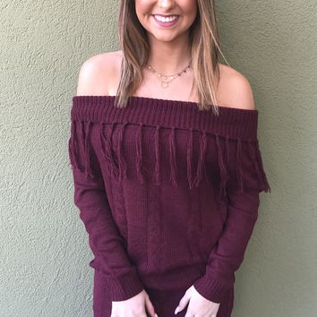 Tis' The Season Dress- Burgundy