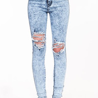 Shredded High Waisted Jeans - LoveCulture