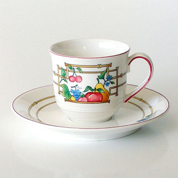 Vintage Espresso Cup & Saucer Set Mon Jardin Villeroy and Boch China Luxembourg