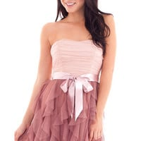 Teeze Me In Your Dreams Dress - Blush/Rose