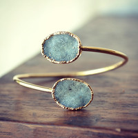 "Lux Divine Druzy Wrap ""PERFECT PAIRS"" Gemstone Bracelets /// Gold"