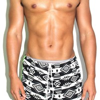 Southwestern Running Shorts-Green