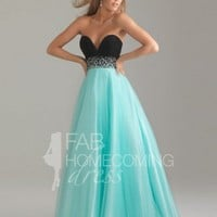 2013 Style Sheath / Column Sweetheart  Beading  Sleeveless Floor-length Tulle   Prom Dresses / Evening Dresses (SZ0211714 ) - FabHomecomingDress.com