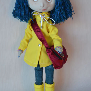 RESERVED. Coraline Jones, Coraline doll, 21 inches