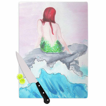 "Rebecca Bender ""Longing To Be Free"" Fantasy Painting Cutting Board"