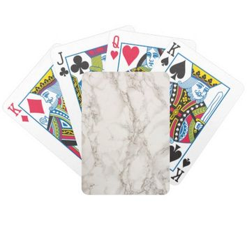 Marble Stone Bicycle Playing Cards