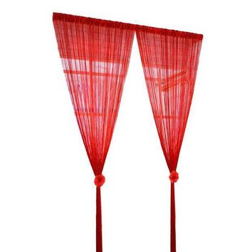 PEAP78W String Voile Curtain Screen Decor Divider Room Home Separate Drape Hallway