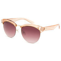 Mink Pink Light & Bright Sunglasses Light Pink One Size For Women 25383238001