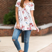 Pretty And Posh Top, Ivory