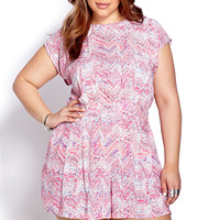 Blurred Lines Woven Romper