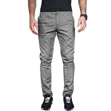 MK 2018 Spring Summer Men's Pants Fashion Solid Color Gray Blue Drawstring Trousers Male Cargo Joggers Pants