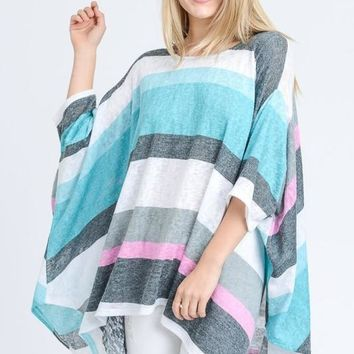Striped Flowy Tunic Top
