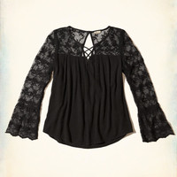 Girls Strappy Bell-Sleeve Top | Girls Tops | HollisterCo.com