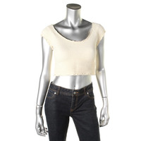 Free People Womens Knit Stretch Crop Top